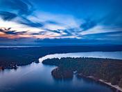 Twilight - Little Sebago Lake - 10/27/17