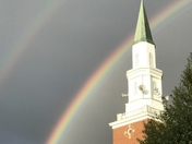 Double Rainbow & Loves UMC Steeple