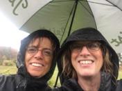 Rainy day golfing