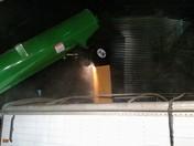 Unloading the corn