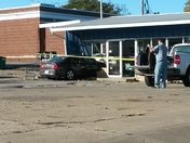 Woman drove into laundry mat