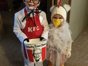 Colonel Sanders and his Chicken wing