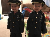 Twin Toddlers - To Protect and Serve!