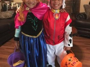 Cj and Makenzie Halloween customers