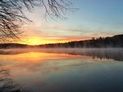 Sunrise Reflections on Pearly Pond