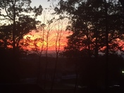 today's sunset in Chambersburg from our deck