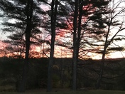 Sunrise on Tenney Mountain in Plymouth