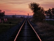 Tracks at dawn