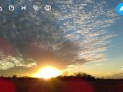 Sunset outside of story city Iowa!