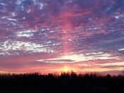 Beautiful evening sky in Woodward Iowa at 5:15 pm on November 6th.