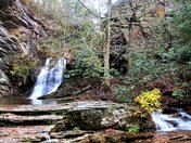 Falls Colors In The Mist At  Hanging Rock Lower Falls (11/09/17)