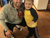 Baker and his #1 fan