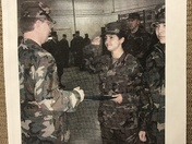Carol Bunce received an Army Achievement Award