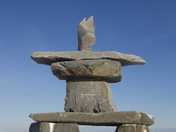 Single inuksuk and inukshuk found in early November