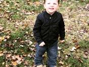 Henry enjoying the Fall