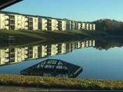 Century Lake Park in Kernersville this morning looked like a mirror.