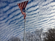 Patriotic cloud display
