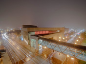 Fog rolling in tonight over the Civic Center