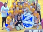 Upj girls volleyball. 2017 PSAC  Champions