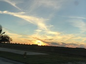 Sunset over Lake Pontchartrain from Slidell.