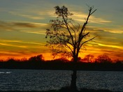 Sunset at lake Manawa
