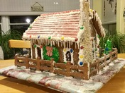 Carreau Family 1st gingerbread house Christmas 2017