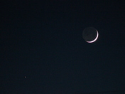 Moon and Saturn.
