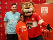 Florida Panthers & Gift of Life Host Bone Marrow Donor & Recipient's 1st meeting