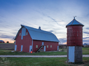 Farmstead Sunset in Clinton County - Photo by Dave Austin