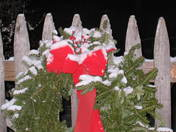 Traditional Christmas outdoor decorations