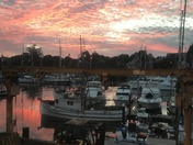 Sunset at Santa Cruz Harbor