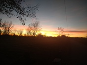 Albuquerque south valley sunset