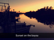 Sunset At Delacroix