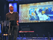 Darryl Strawberry speaks in church in Kansas City at Evangel Temple. 11/26/17