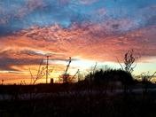 Beautiful sunset in Franksville, WI