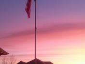 Old Glory sunrise