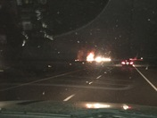 18 wheeler on fire on I12 between abita springs and covington