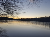 First ice of the season this morning on Pearly Pond, Rindge
