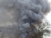 Lumber company fire.