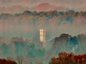 Foggy Friday looking at Furman from Paris Mountain