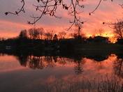 Random Lake Winter Sunset