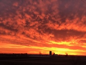 Pretty amazing sunset this evening in Campbellsport.