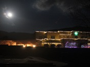 Super moon over Sandias