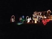 Dancing Santa and sleigh