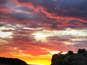Gorgeous Sunset at the Malpais Monument