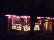 Windblown Christmas lights