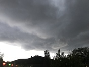 Storm clouds rolling through New Orleans East