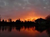 Hot Winter Sunset