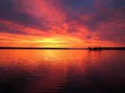 Sunset on Pewaukee Lake
