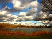 afternoon clouds at lake manawa